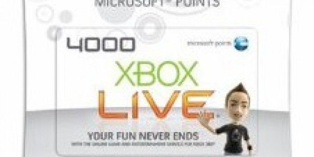 Xbox 360 Live points card