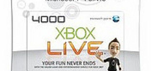 Xbox 360 Live points cards
