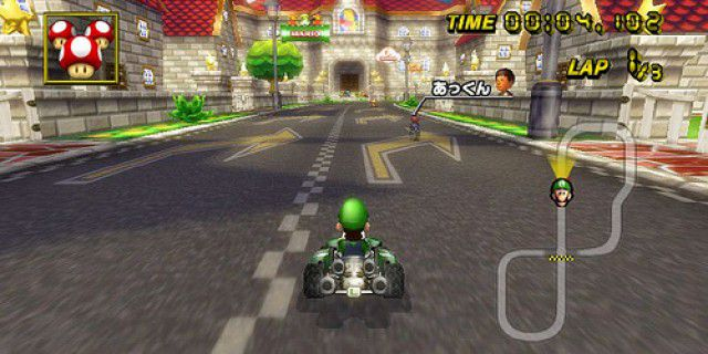 Screenshot of Mario Kart