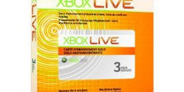 Xbox Live Gold Card
