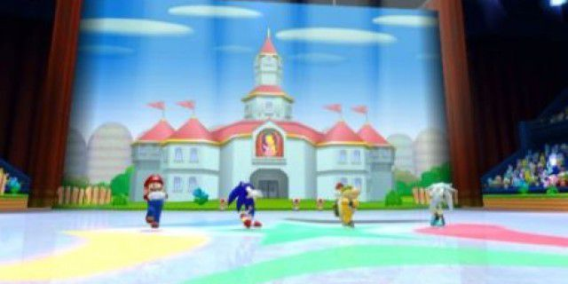 Screenshot of Mario and Sonic at the Olympic Winter Games