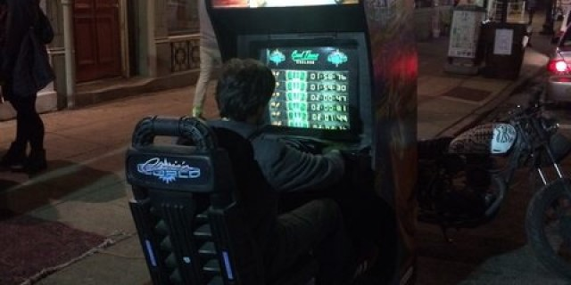 Best use of a video games cabinet goes to this guy